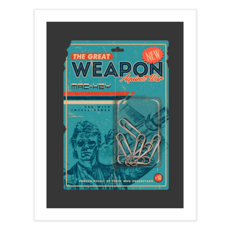 Great weapon Home Fine Art Print by jackduarte's Artist Shop