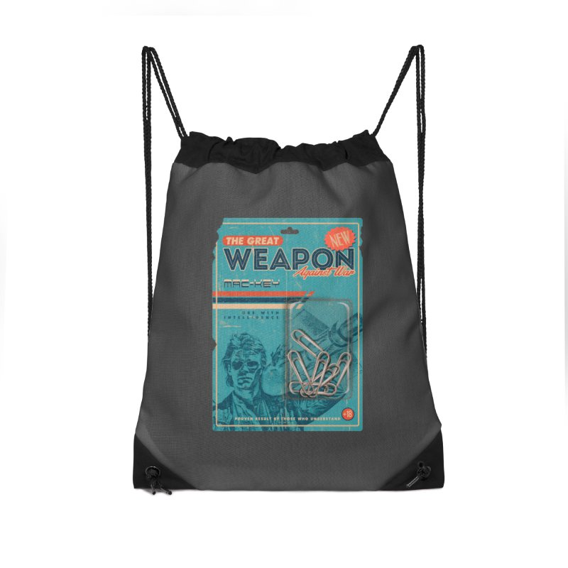 Great weapon Accessories Drawstring Bag Bag by jackduarte's Artist Shop