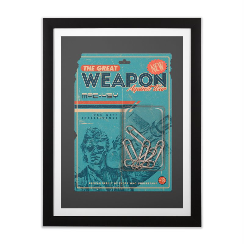 Great weapon Home Framed Fine Art Print by jackduarte's Artist Shop