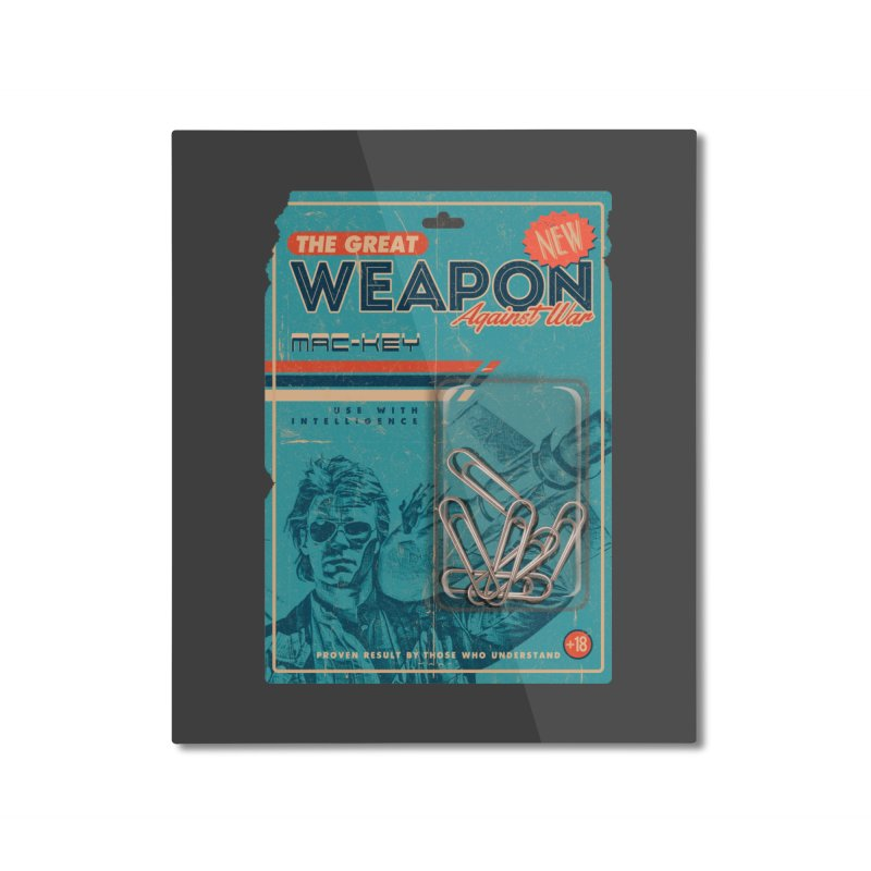 Great weapon Home Mounted Aluminum Print by jackduarte's Artist Shop