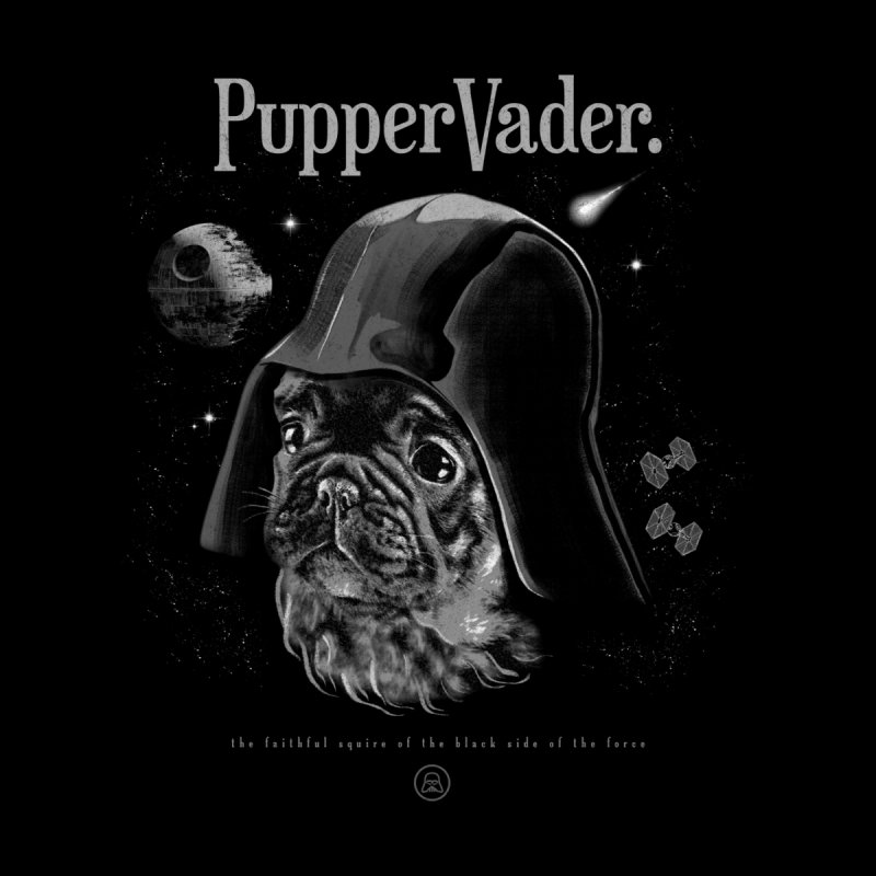 Pupper vader Men's Zip-Up Hoody by jackduarte's Artist Shop