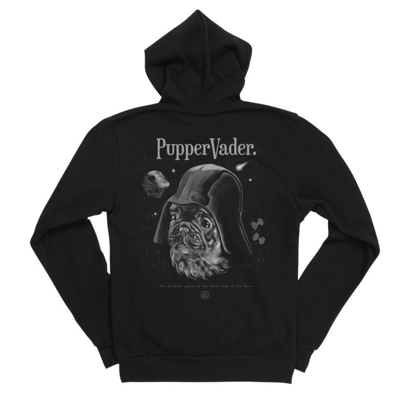 Pupper vader Men's Sponge Fleece Zip-Up Hoody by jackduarte's Artist Shop