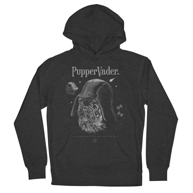 Pupper vader Women's French Terry Pullover Hoody by jackduarte's Artist Shop