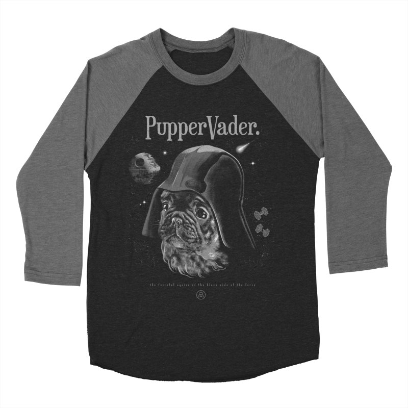 Pupper vader Men's Baseball Triblend Longsleeve T-Shirt by jackduarte's Artist Shop
