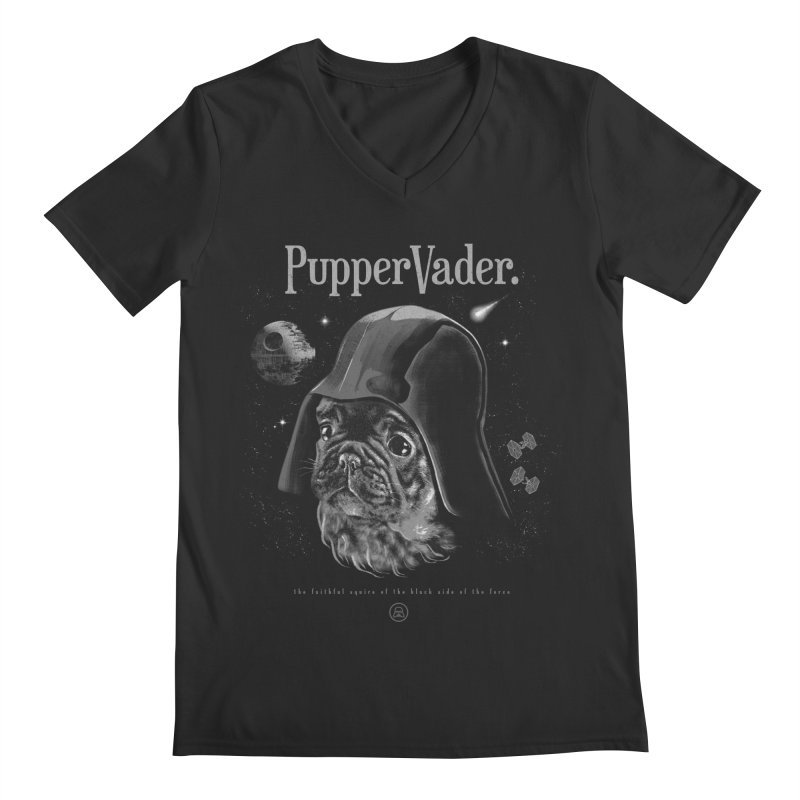 Pupper vader Men's Regular V-Neck by jackduarte's Artist Shop