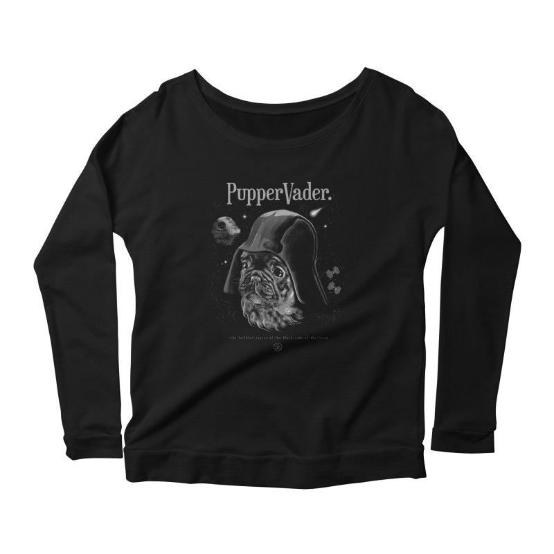 Pupper vader Women's Scoop Neck Longsleeve T-Shirt by jackduarte's Artist Shop