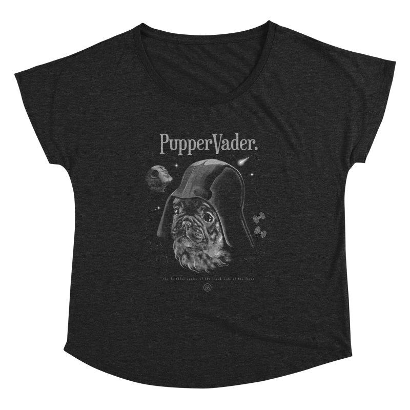 Pupper vader Women's Dolman Scoop Neck by jackduarte's Artist Shop