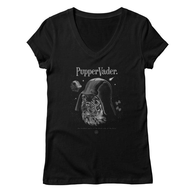 Pupper vader Women's V-Neck by jackduarte's Artist Shop