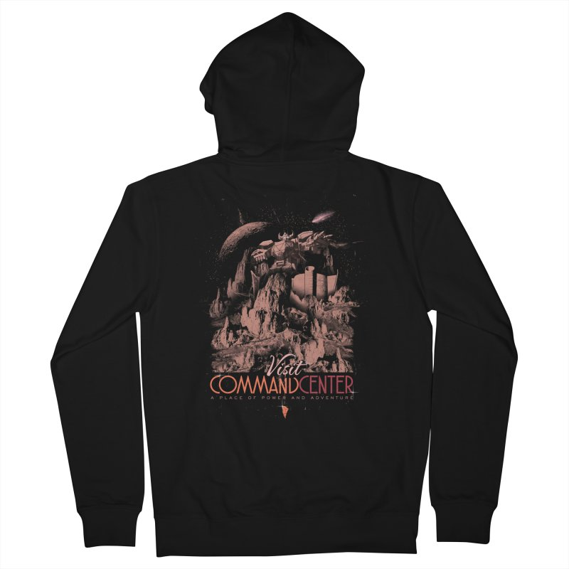 Visit CommandCenter Men's French Terry Zip-Up Hoody by jackduarte's Artist Shop