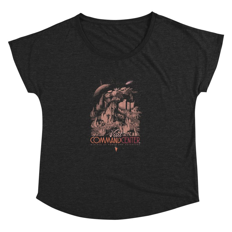 Visit CommandCenter Women's Dolman Scoop Neck by jackduarte's Artist Shop