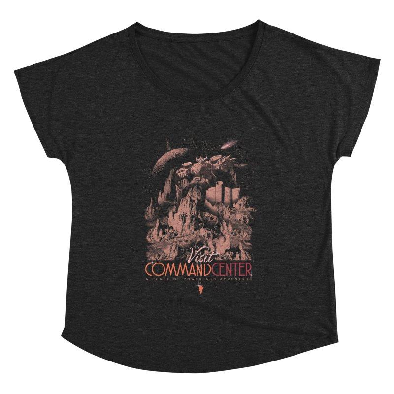 Visit CommandCenter Women's Dolman Scoop Neck by jackduarte's Artist Shop
