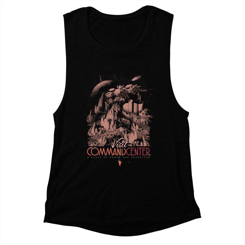 Visit CommandCenter Women's Muscle Tank by jackduarte's Artist Shop