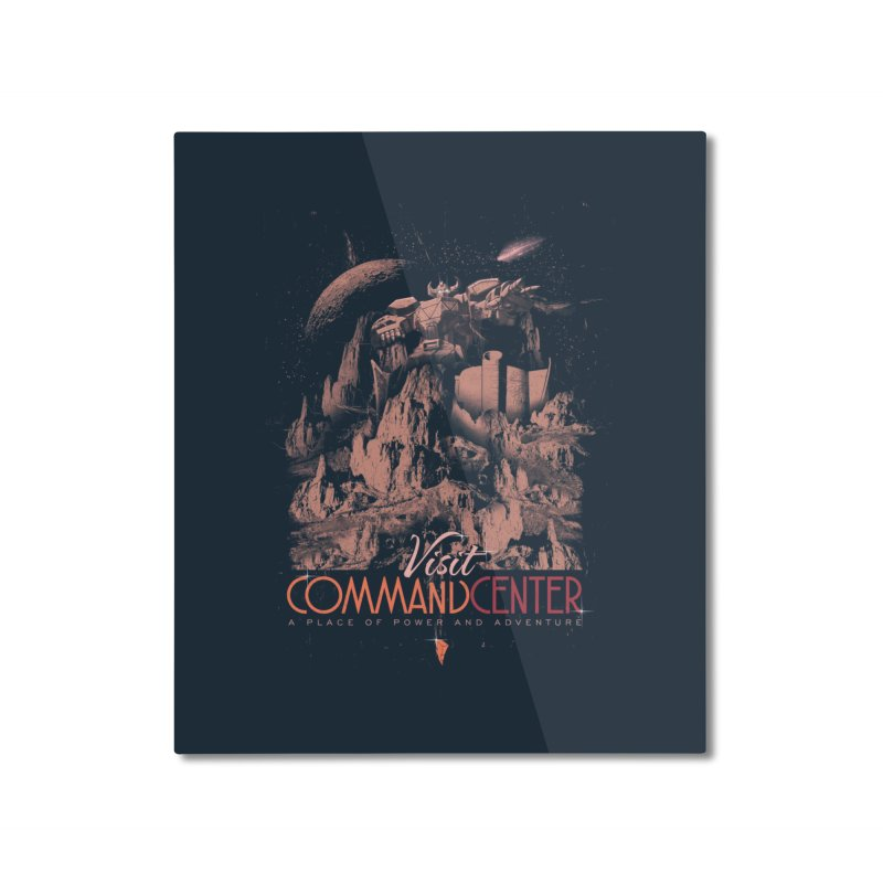 Visit CommandCenter Home Mounted Aluminum Print by jackduarte's Artist Shop