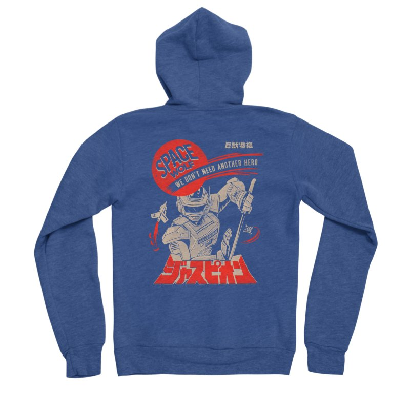 Space wolf Men's Zip-Up Hoody by jackduarte's Artist Shop