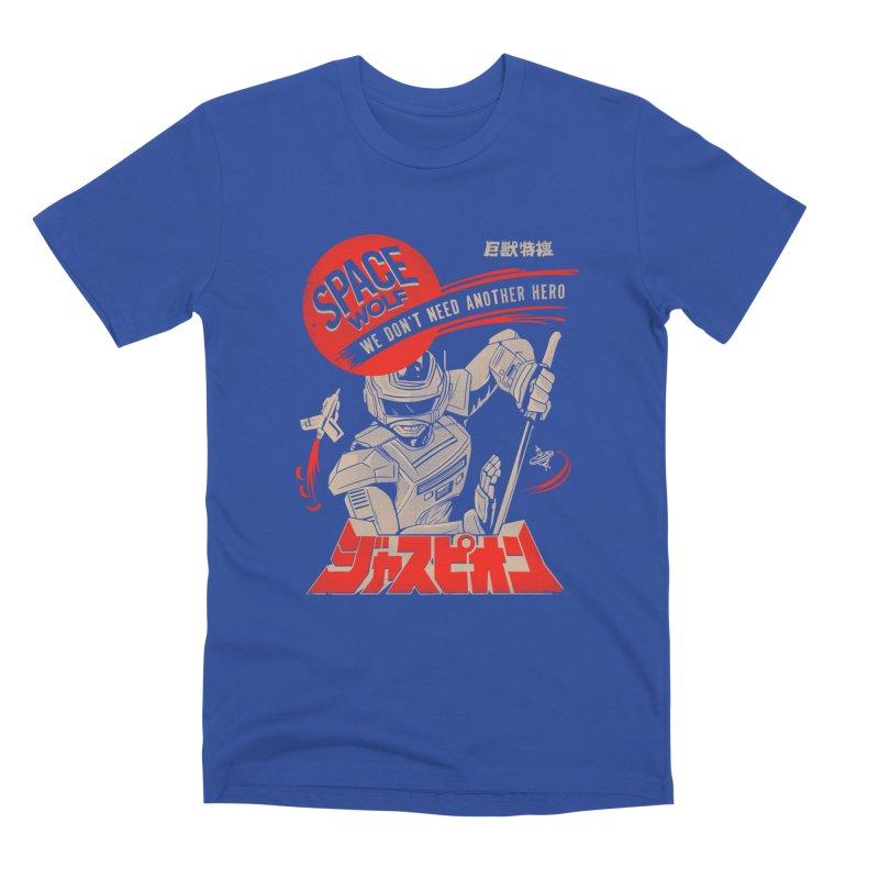 Space wolf Men's T-Shirt by jackduarte's Artist Shop