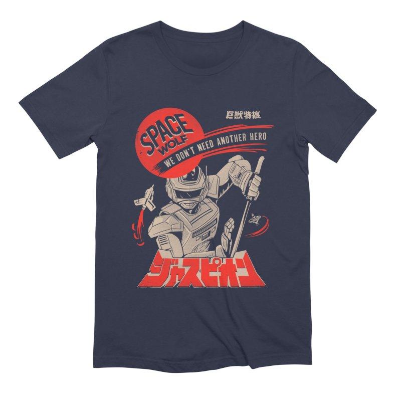 Space wolf Men's Extra Soft T-Shirt by jackduarte's Artist Shop