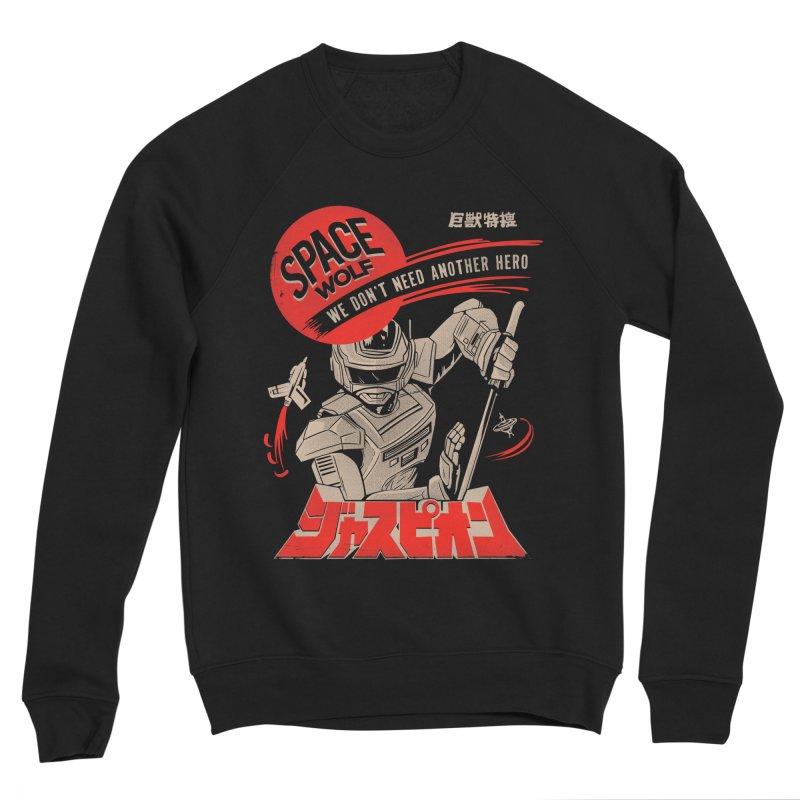 Space wolf Women's Sponge Fleece Sweatshirt by jackduarte's Artist Shop