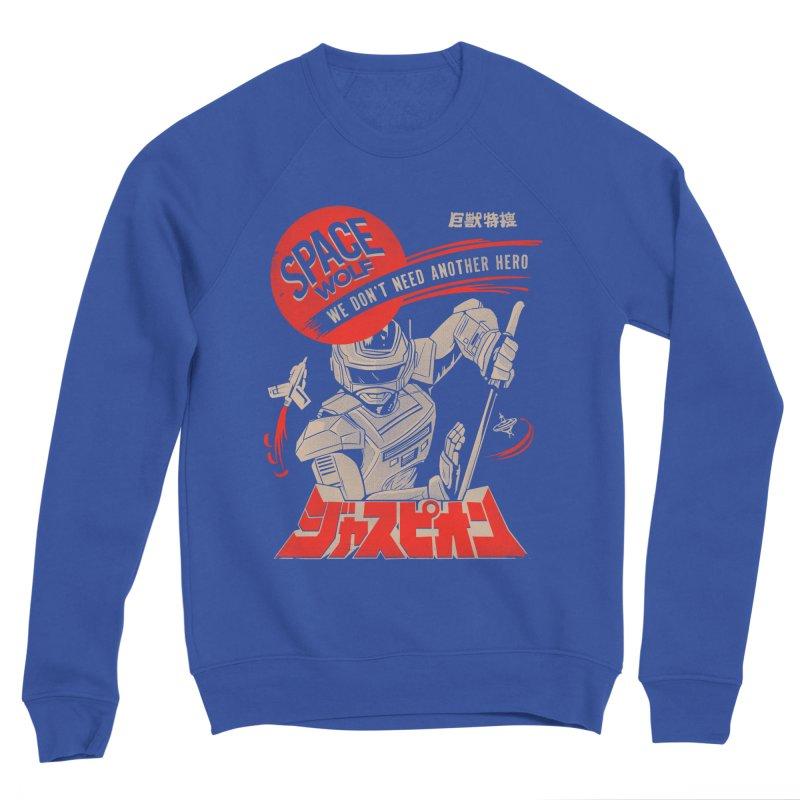 Space wolf Men's Sponge Fleece Sweatshirt by jackduarte's Artist Shop