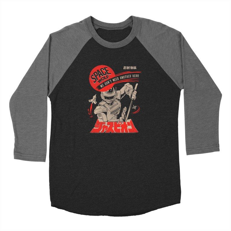 Space wolf Women's Baseball Triblend Longsleeve T-Shirt by jackduarte's Artist Shop
