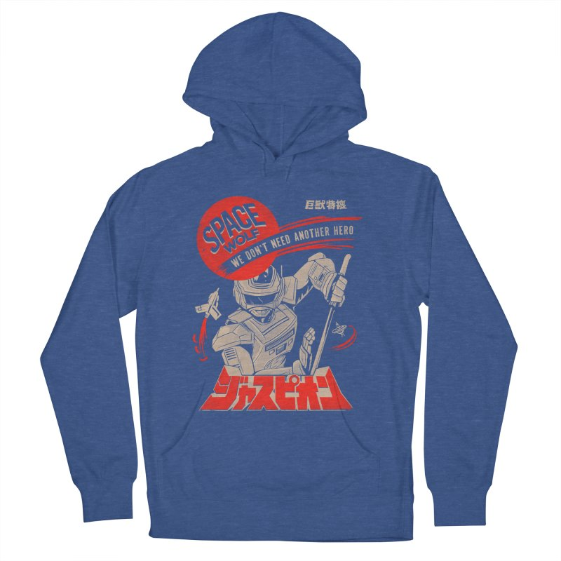 Space wolf Men's French Terry Pullover Hoody by jackduarte's Artist Shop
