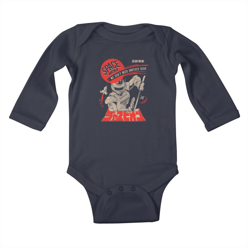 Space wolf Kids Baby Longsleeve Bodysuit by jackduarte's Artist Shop