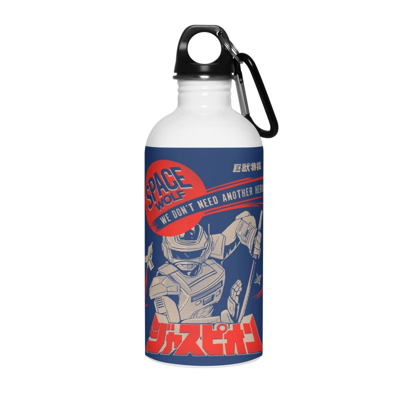 Space wolf Accessories Water Bottle by jackduarte's Artist Shop