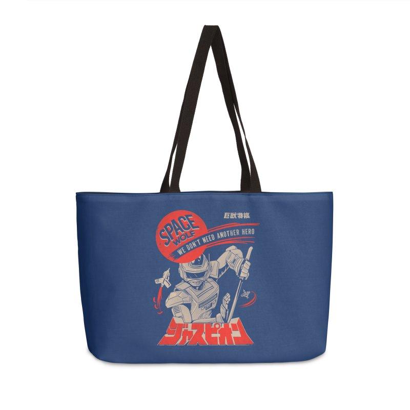 Space wolf Accessories Weekender Bag Bag by jackduarte's Artist Shop