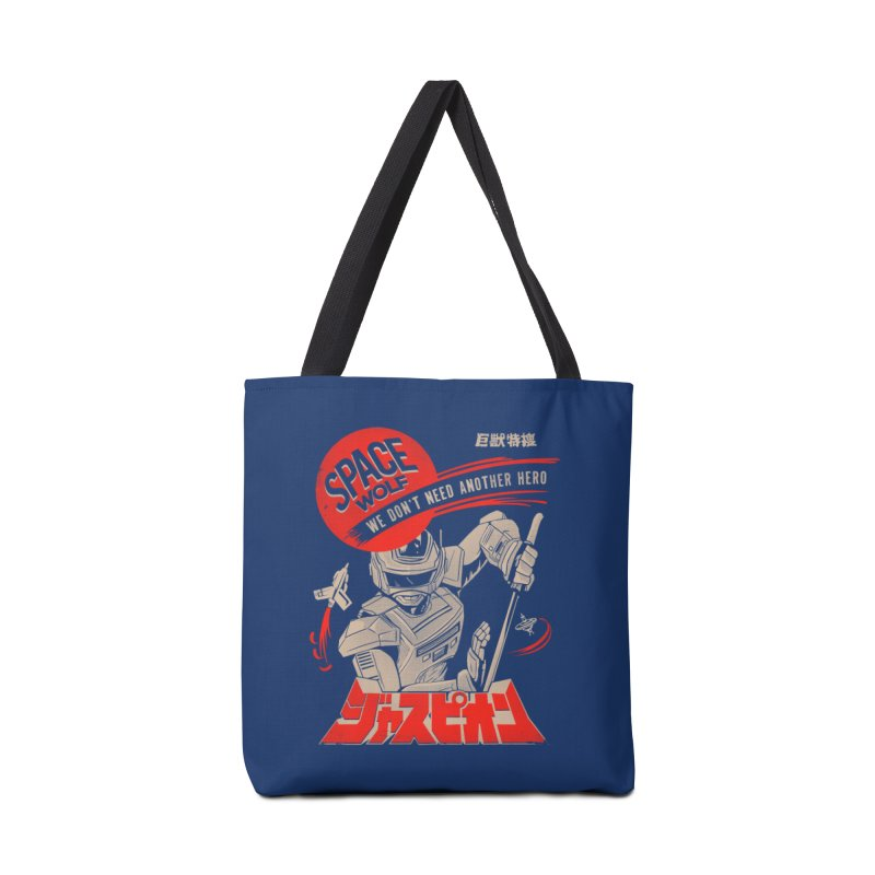 Space wolf Accessories Tote Bag Bag by jackduarte's Artist Shop