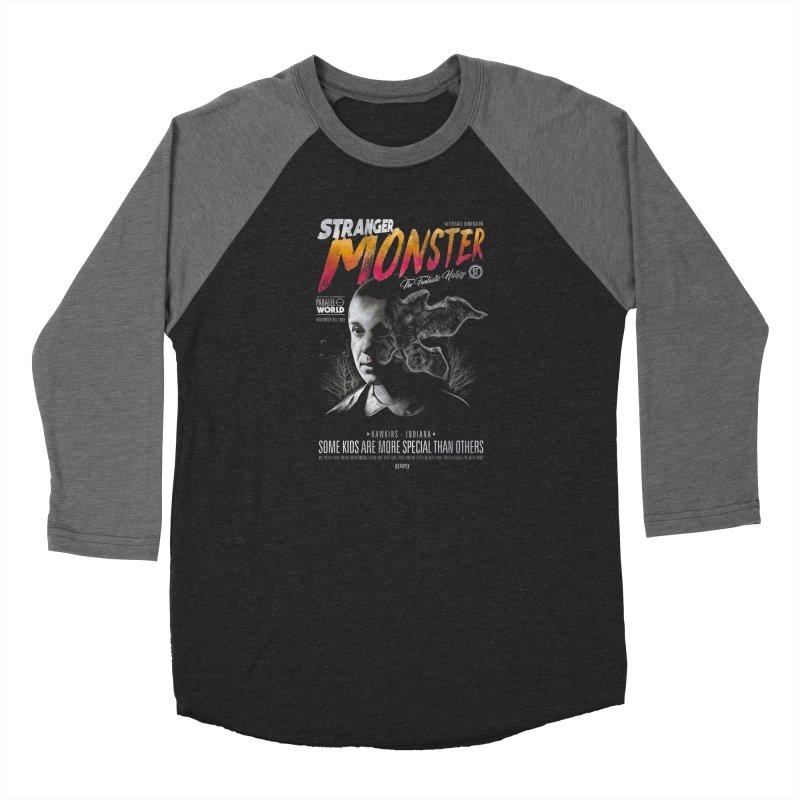 Stranger monster Women's Baseball Triblend Longsleeve T-Shirt by jackduarte's Artist Shop