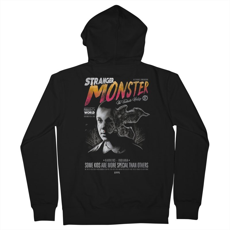 Stranger monster Men's French Terry Zip-Up Hoody by jackduarte's Artist Shop