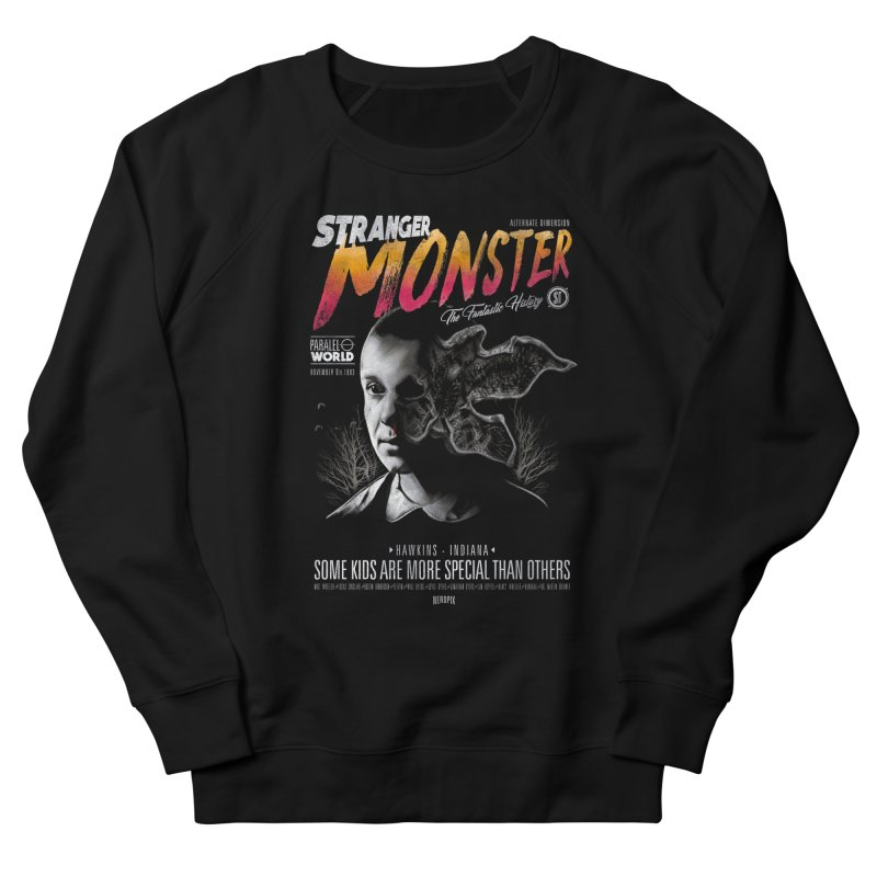Stranger monster Men's French Terry Sweatshirt by jackduarte's Artist Shop