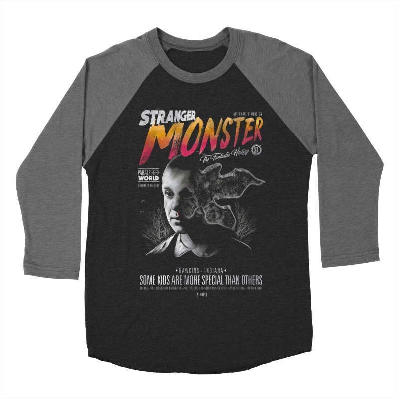 Stranger monster Women's Baseball Triblend Longsleeve T-Shirt by jackduarte's Artist Shop