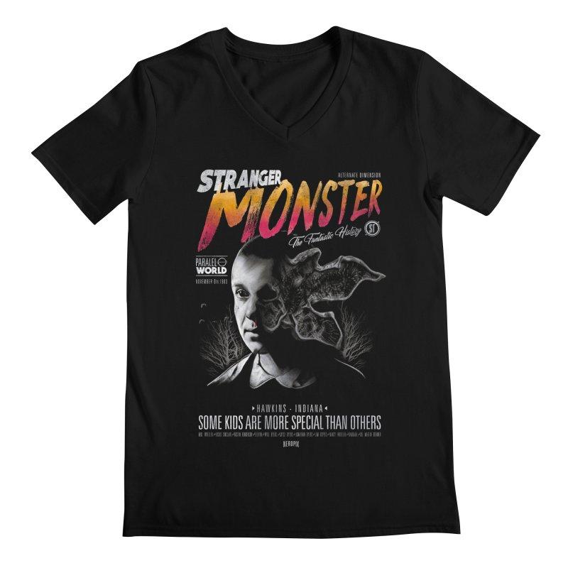 Stranger monster Men's Regular V-Neck by jackduarte's Artist Shop