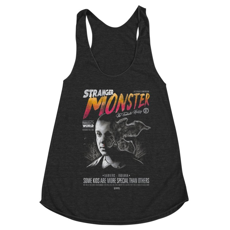 Stranger monster Women's Racerback Triblend Tank by jackduarte's Artist Shop