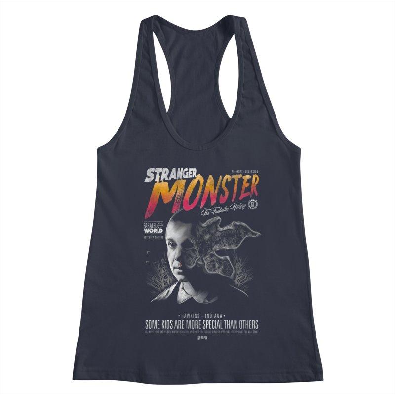 Stranger monster Women's Racerback Tank by jackduarte's Artist Shop