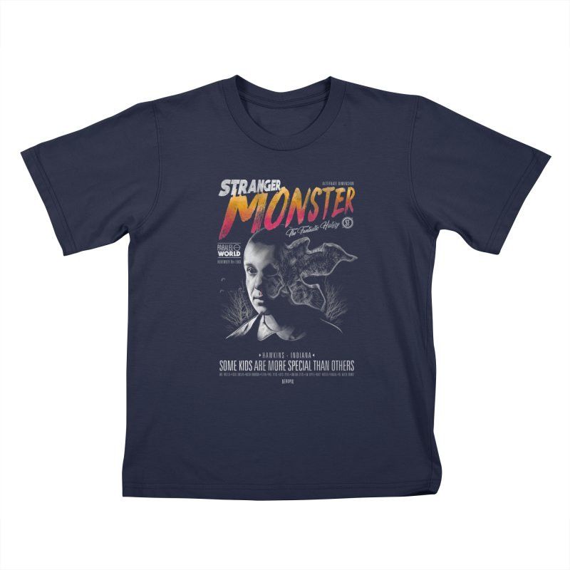 Stranger monster Kids T-Shirt by jackduarte's Artist Shop