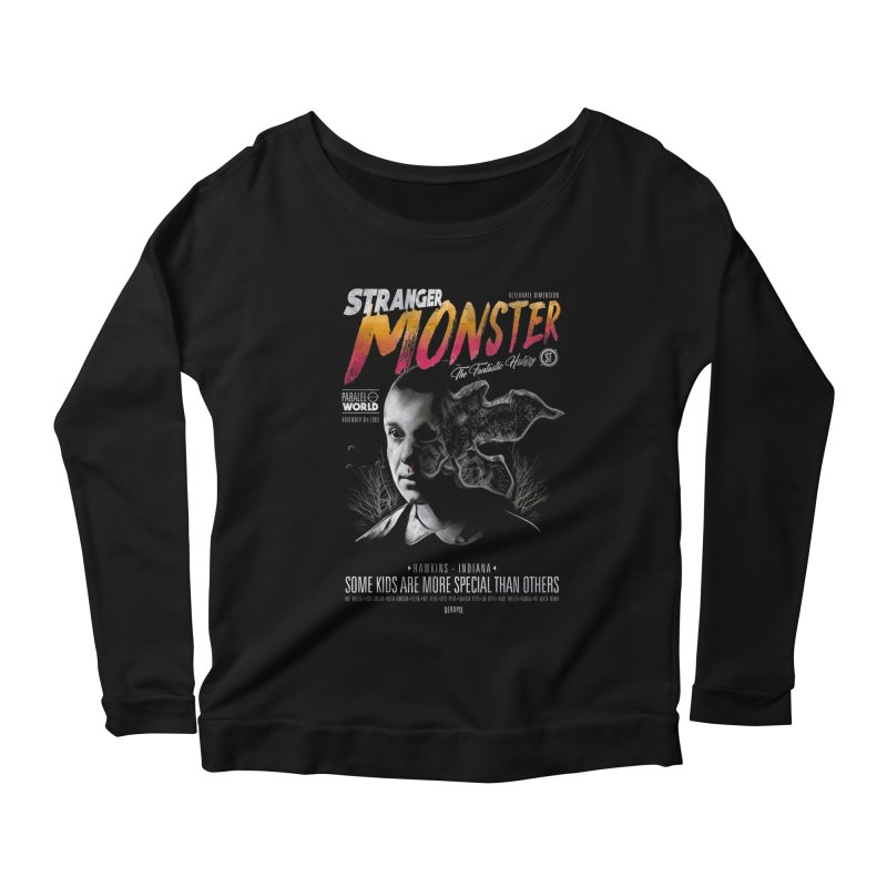 Stranger monster Women's Scoop Neck Longsleeve T-Shirt by jackduarte's Artist Shop