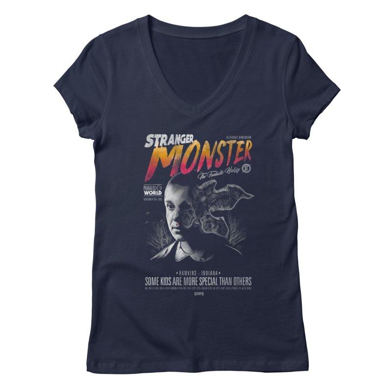 Stranger monster Women's Regular V-Neck by jackduarte's Artist Shop