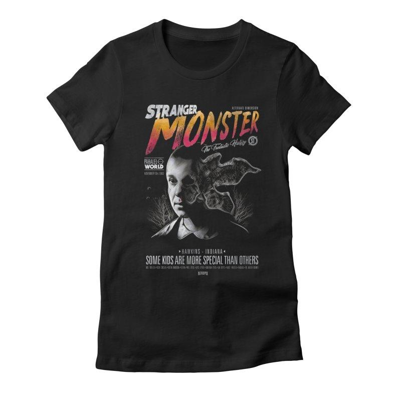 Stranger monster Women's Fitted T-Shirt by jackduarte's Artist Shop