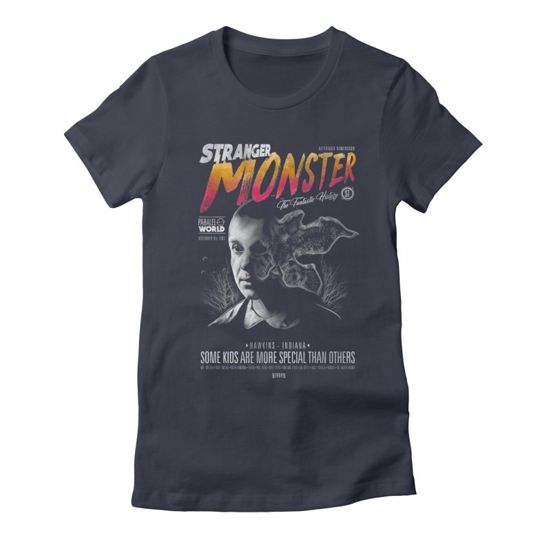 Stranger monster Women's Fitted T-Shirt by jackduarte's Artist Shop
