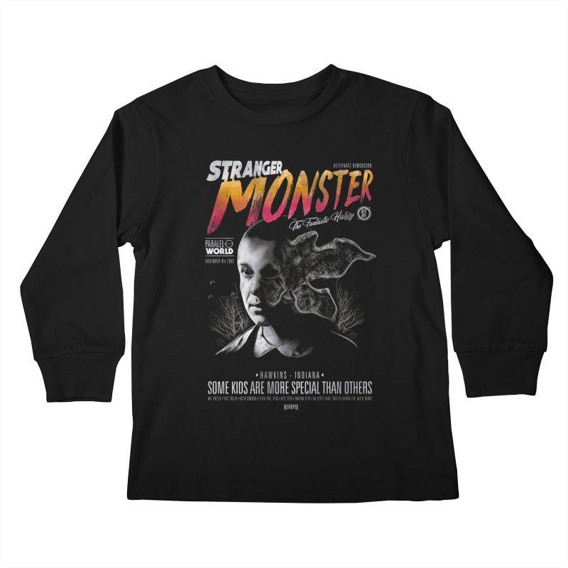 Stranger monster Kids Longsleeve T-Shirt by jackduarte's Artist Shop