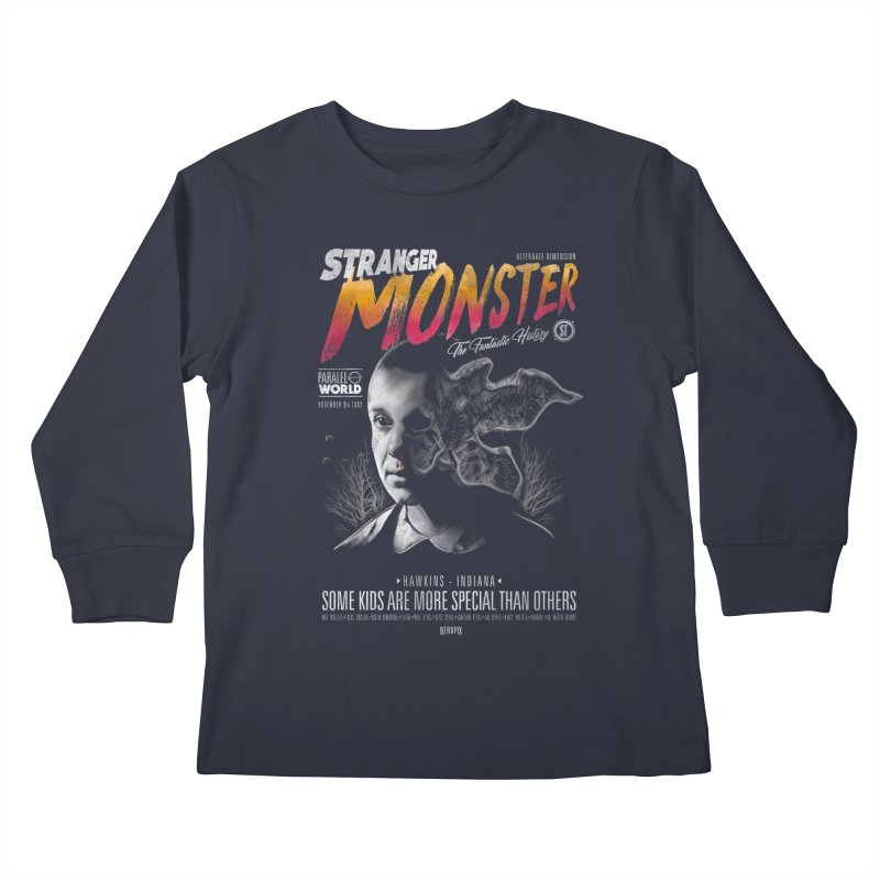 Stranger monster Kids Longsleeve T-Shirt by jackduarte's Artist Shop