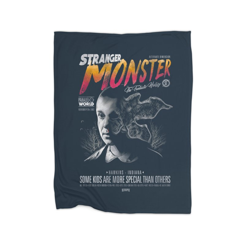 Stranger monster Home Fleece Blanket Blanket by jackduarte's Artist Shop