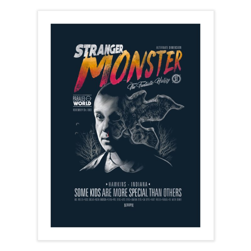Stranger monster Home Fine Art Print by jackduarte's Artist Shop