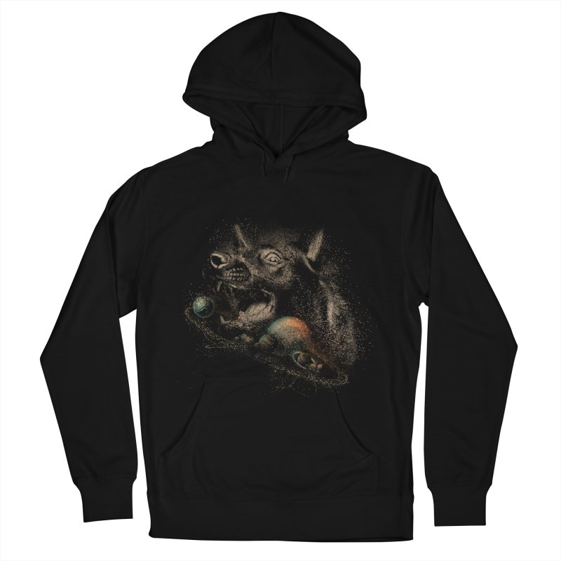 Dog space Men's French Terry Pullover Hoody by jackduarte's Artist Shop