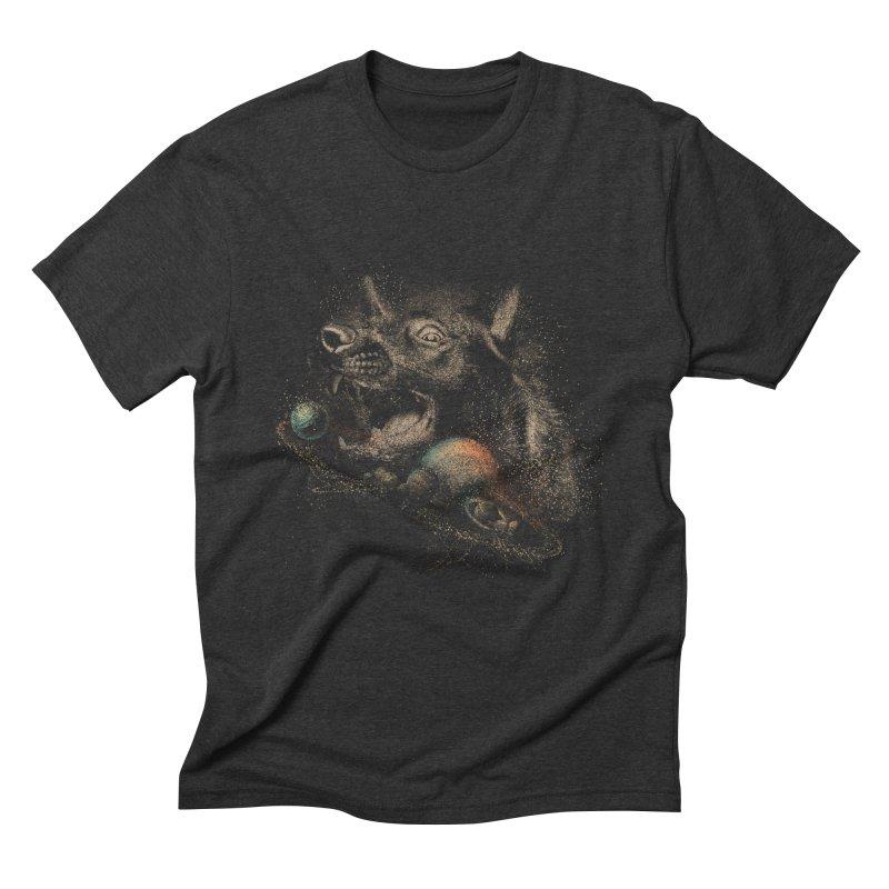 Dog space Men's Triblend T-Shirt by jackduarte's Artist Shop