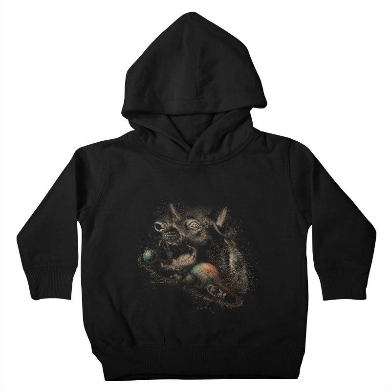Dog space Kids Toddler Pullover Hoody by jackduarte's Artist Shop