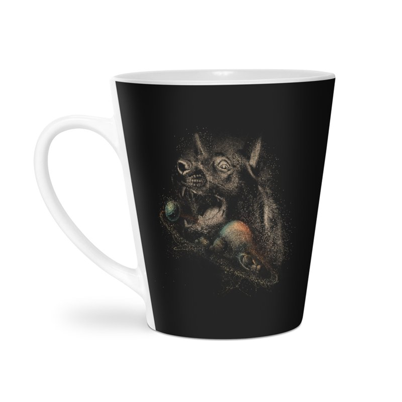 Dog space Accessories Latte Mug by jackduarte's Artist Shop