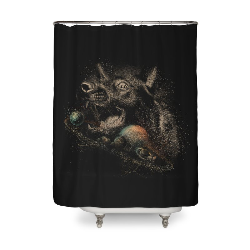 Dog space Home Shower Curtain by jackduarte's Artist Shop