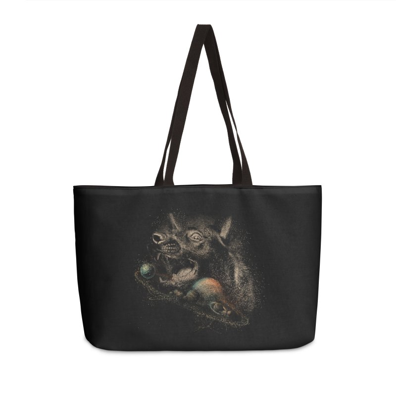 Dog space Accessories Weekender Bag Bag by jackduarte's Artist Shop